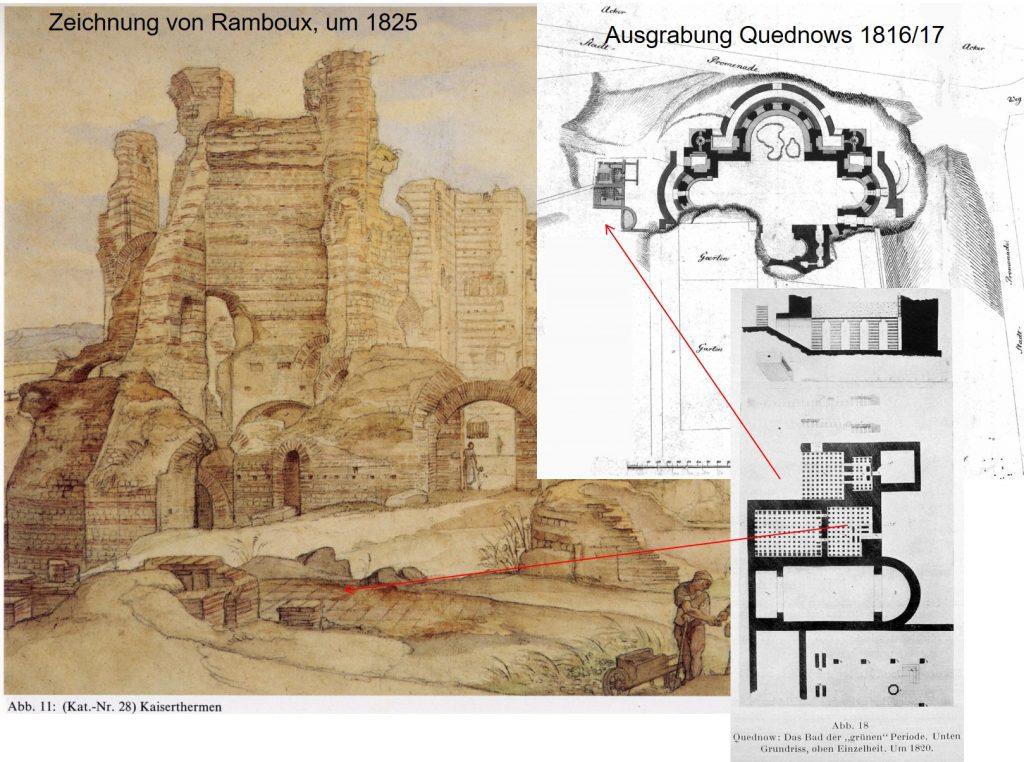 Ausgrabung durch Quednow (19. Jh.)