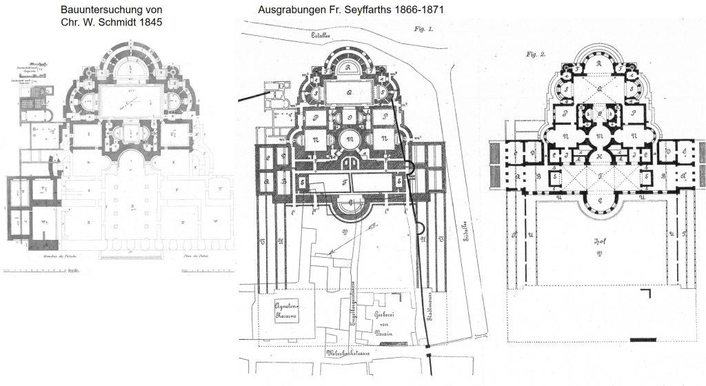 Ausgrabung durch Schmidts (1845) & Seyffarths (1866-1871)